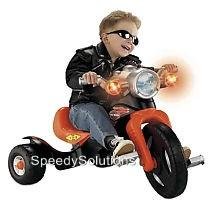 Kids Harley Davidson Light & Sound Motorcycle Tricycle 3 Wheel Fisher Price Bike