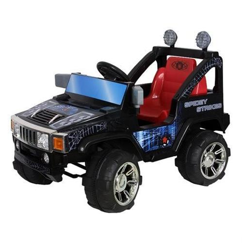 kids 12v double engine remote control ride on power hummer wheels spider web car