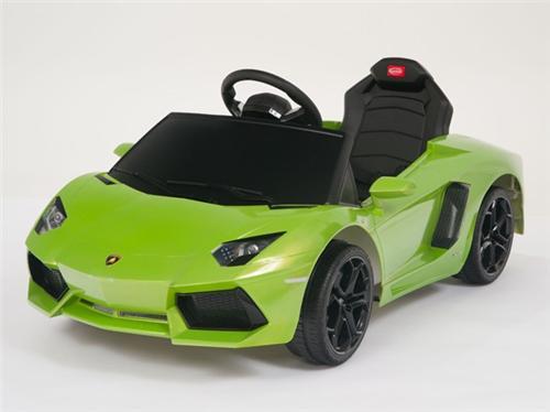 kids ride on power licensed lamborghini aventador wheels rc car grn