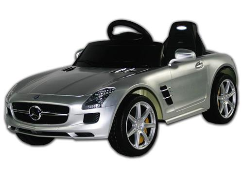 mercedes benz sls silver ride on remote control power kids