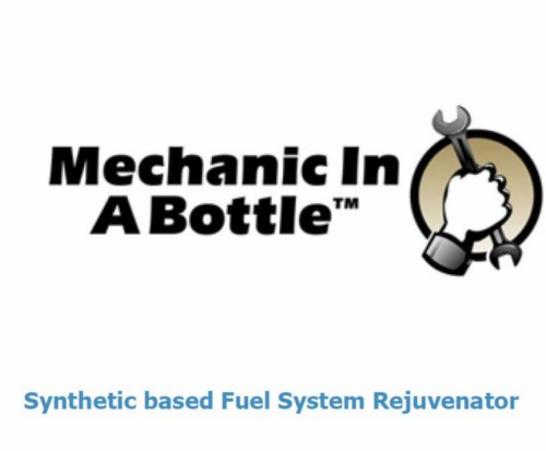 "Synthetic based Fuel System Rejuvenator ""B3CFUEL SOLUTIONS INC"" MECHANIC IN A BOTTLE 4 Oz. Cleans Engines With Issues Related To Varnished Carburetors, Water In The Tank, Carbon Deposits, Ethanol, & Old/Poor Quality Gas Removes All Varnish In The Fuel System Without Having To Remove The Carburetor From The Machine, Contains Rubber & Plastic Conditioners, Revitalizes Old Fuel, Safely Dissolves Varnish/Shellac Anti-Corrosive/Metal Deactivator, Carbon Cleaner, Octane Improvement, Fuel Stabilization High Temperature Detergent Upper Cylinder Lubricity Not A Replacement For 2 Cycle Oil."