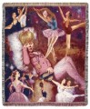 Ballerina Dreams Dance Tapestry Throw