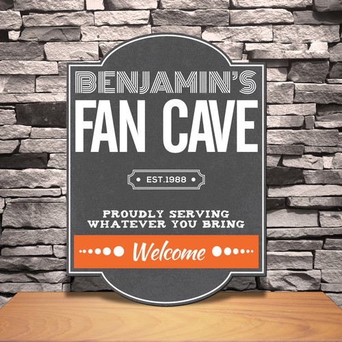Personalised Man Cave Signs Australia : Personalized vintage tavern modern fan man cave pub sign