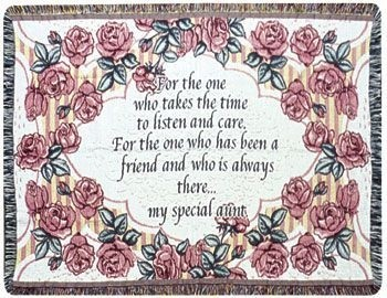 Special Aunt Gift To Remember Tapestry Throw Size 40x50 - Treasured Memories, Unltd
