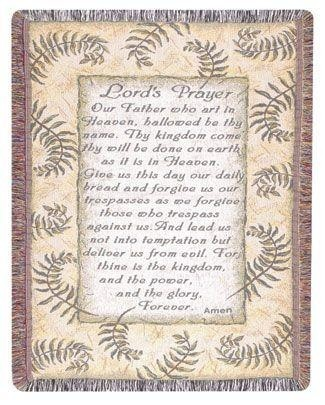 Lord's Prayer Gift To Remember Tapestry Throw Size 40x50 - Treasured Memories, Unltd