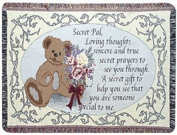 Secret Pal Gift To Remember Tapestry Throw Size 40x50 - Treasured Memories, Unltd