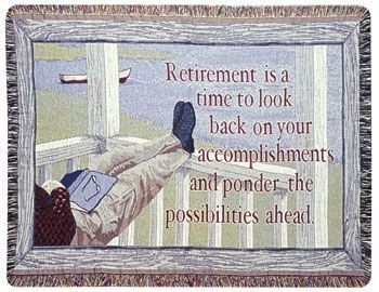 Retirement Gift To Remember Tapestry Throw Size 40x50 - Treasured Memories, Unltd