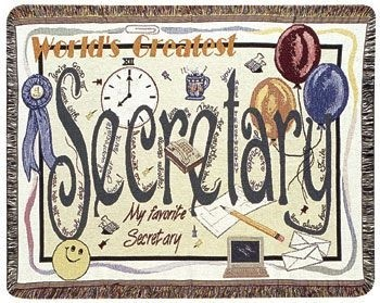 Secretary Gift To Remember Tapestry Throw Size 40x50 - Treasured Memories, Unltd