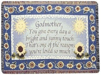 Godmother Gift To Remember Tapestry Throw Size 40x50 - Treasured Memories, Unltd