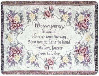 Wedding Gift To Remember Tapestry Throw Size 40x50 - Treasured Memories, Unltd