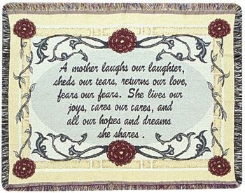 Mother Gift To Remember Tapestry Throw Size 40x50 - Treasured Memories, Unltd