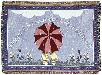 Shelters A Friend Gift To Remember Tapestry Throw Size 40x50 - Treasured Memories, Unltd