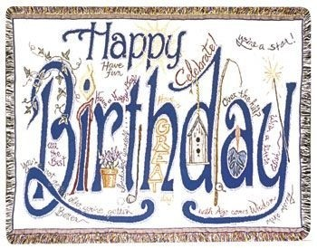 Happy Birthday Gift To Remember Tapestry Throw Size 40x50 - Treasured Memories, Unltd