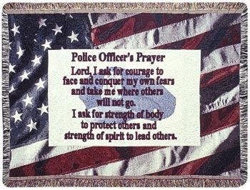 Police Officer Gift To Remember Tapestry Throw Size 40x50 - Treasured Memories, Unltd