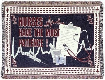 Nurses Gift To Remember Tapestry Throw Size 40x50 - Treasured Memories, Unltd