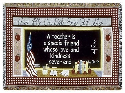 Teacher Gift To Remember Tapestry Throw Size 40x50 - Treasured Memories, Unltd