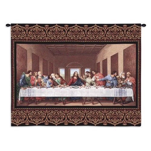 the last supper inspirational wall art hanging tapestry. Black Bedroom Furniture Sets. Home Design Ideas