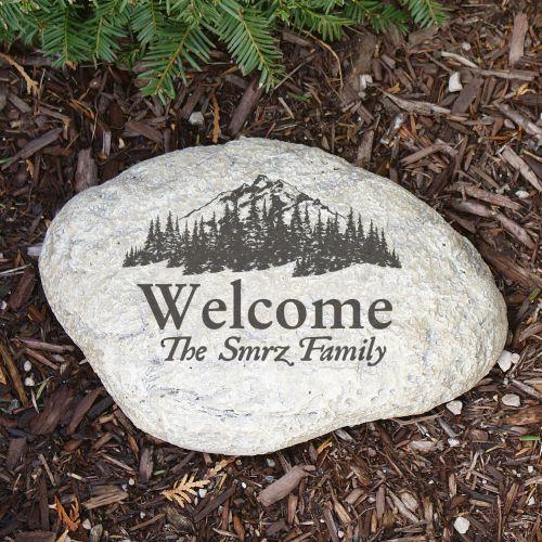 Personalized My Woodland Welcome Garden Stone
