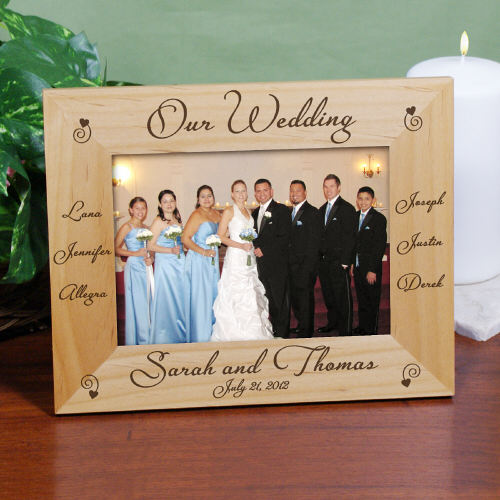 Personalized Engraved Our Wedding Wood Picture Frame - iMallShoppe.com
