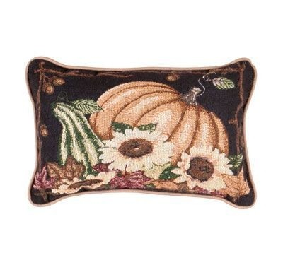 Awesome Autumn Garden Decorative Tapestry Pillow
