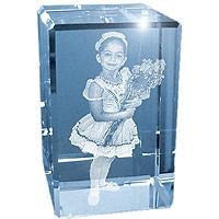 Photo Laser Small Cube Crystal Glass Keepsake Small Cube Size 2x2x3