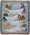 Praise Angels Inspirational Tapestry Throw