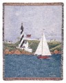 Coastal Breeze Lighthouse Tapestry Throw