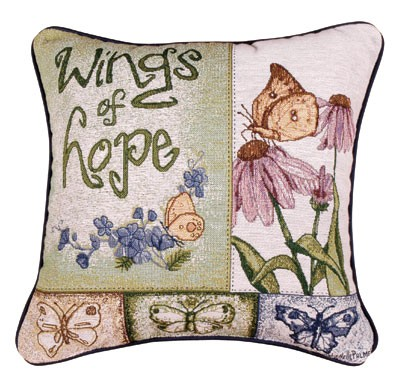 Hope Decorative Pillow : Wings Of Hope Garden Decorative Tapestry Pillow - iMallShoppe.com