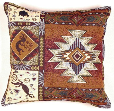 Southwestern Tapestry Pillows : Kokopelli Southwestern Western Decorative Tapestry Pillow - iMallShoppe.com