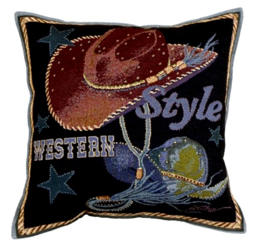 Decorative Western Throw Pillows : Western Style Western Decorative Tapestry Pillow - iMallShoppe.com