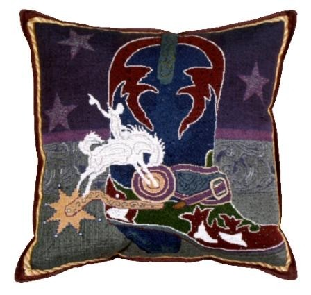 Boots N Bling Western Decorative Tapestry Pillow - iMallShoppe.com