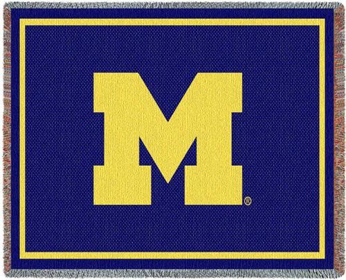 Personalized University Of Michigan Big M Logo Tapestry