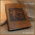 A4 Eye of Horus Hand Bound Leather Journal