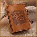 A7 Eye of Horus Hand Bound Leather Mini Journal