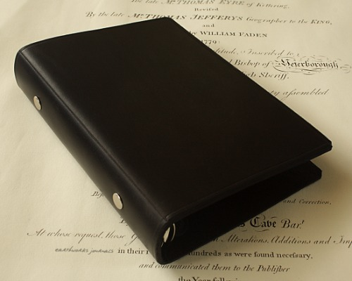 PERSONAL SIZE BLACK ORGANISER - EARTHWORKS JOURNALS PSB001 4X5