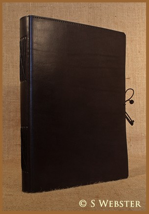 A4 Classic Black Hand Bound Leather Journal