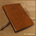A4 Classic Brown Hand Bound Leather Journal