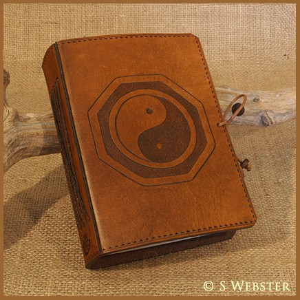A6 Tai Chi Hand Bound Leather Journal