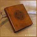 A5 BROWN CELTIC CROSS BINDER