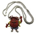 Iced Out Rhodium Silver Kool Aid Man Diamond Cz Pendant