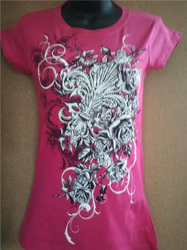 6 pcs fleur de lis rhinestones tattoo womens graphics for Tattoo t shirts wholesale