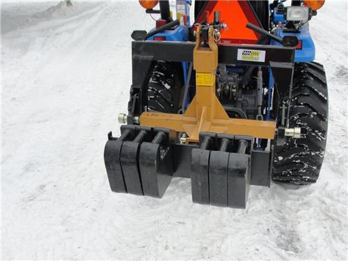 Kubota Tractor Weights : Front rear suitcase weights for bx orangetractortalks