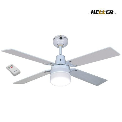 Heller 1200mm sienna ceiling fan with oyster light and remote control : Heller blade ruby ceiling fan with light remote bourne electronics
