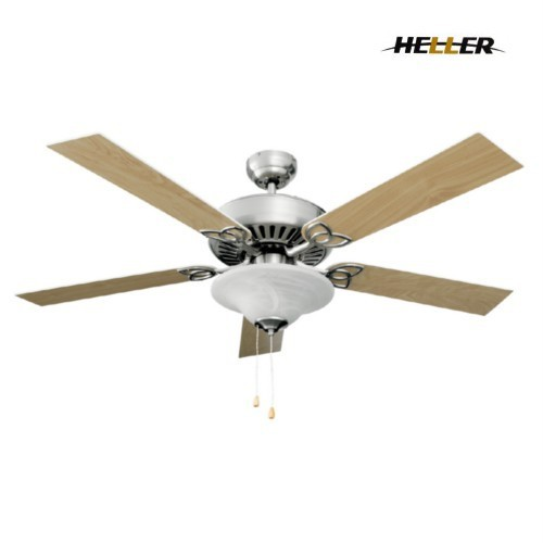 HELLER-Morgan-1300mm-5-REVERSIBLE-Blade-Fan-With-Light