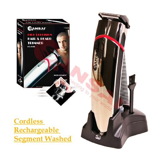 sansai rechargeable cord or cordless high precision hair beard trimmer ebay. Black Bedroom Furniture Sets. Home Design Ideas