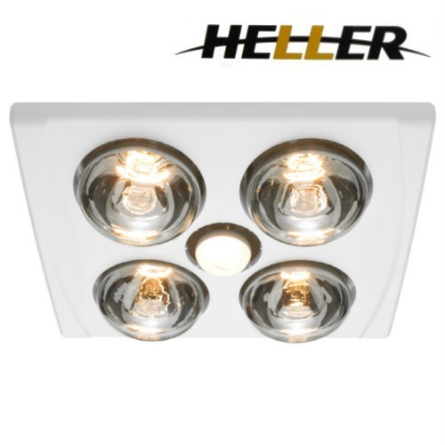 heller 3 in 1 ducted bathroom light heater exhaust fan. Black Bedroom Furniture Sets. Home Design Ideas