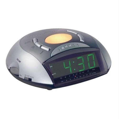 maxim coolsounds alarm clock radio with soft night light ebay. Black Bedroom Furniture Sets. Home Design Ideas