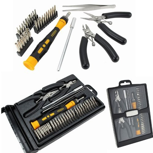 Computer-Service-30-Piece-Electronic-Tool-Kit-with-cutters-pliers-screwdrivers