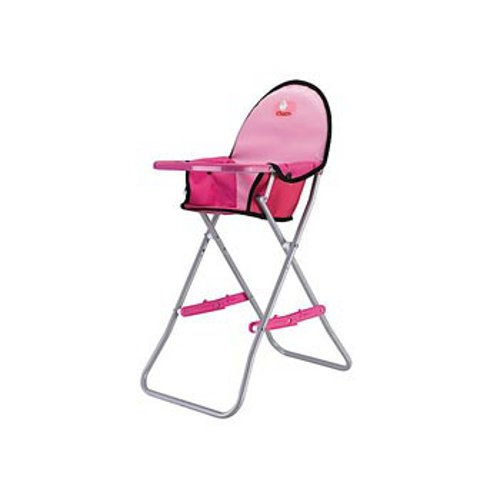 Chica-Portable-Doll-high-chair-with-metal-frame-construction-and-seat-belt-Pink