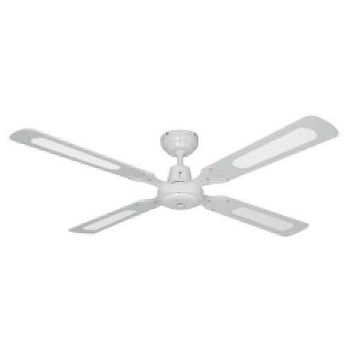 Arlec 120cm 4 Blade Sweep Ceiling Fan Rattan White